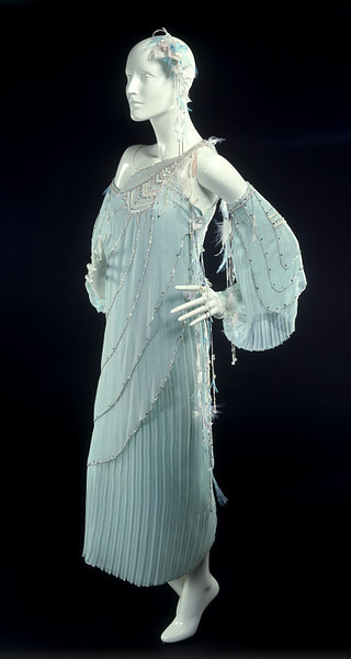 Bill Gibb evening ensemble ca. 1977 via the Victoria & Albert Museum