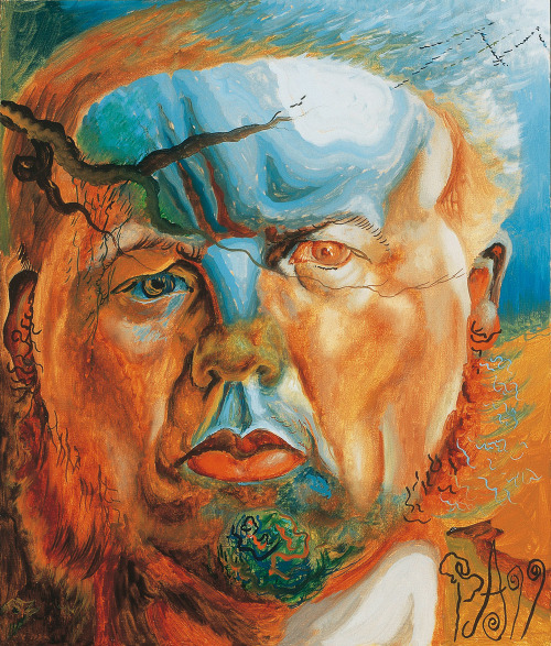 iheartmyart:  Philip Akkerman, Self Portrait No. 8, 1999, Oil on Masonite Panel, 40 x 34 cm Part of the Mummery + Schnelle's exhibition: The Beholder's Share, 13 October - 4 December