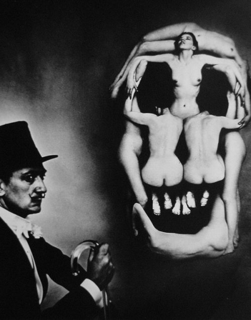 suicideblonde:  Dalí Skull (1951) by Philippe Halsman