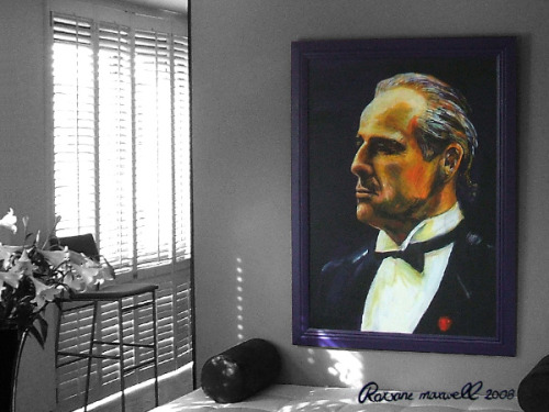 Don Corleone December 2008 - Acrylic on canvas - 160 x 110 cm