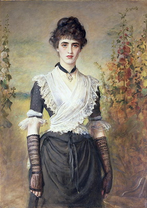 tea-lace:  'Il Penseroso' by John Everett Millais (British, 1829-1896). (Submitted by ladylucyloves)