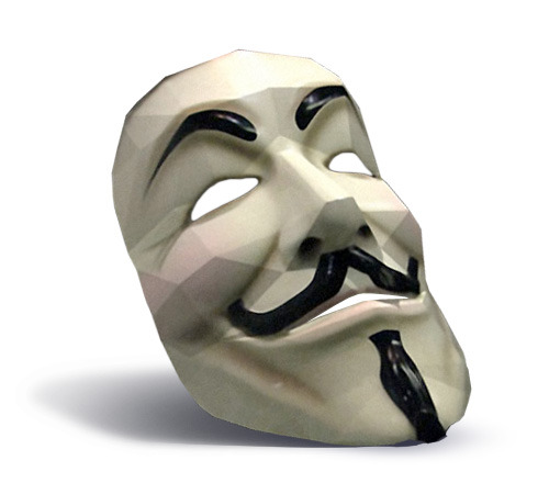 mckack:  Guy Fawkes Papercraft Mask Download from:Mediafire.com  Time to get into papercraft.