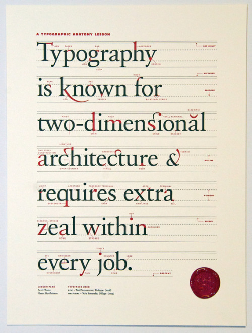 fletter:  Typography freaks, hold onto your cap heights: Ligature, Loop & Stem, a Toronto-based design firm that exists solely to celebrate type, has created a gorgeous limited edition poster, which — wait for it! — celebrates type. I think I just wet myself … yep.   (via Co.Design)