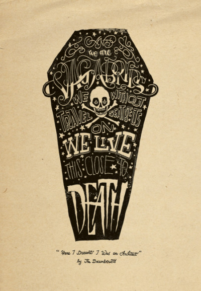 "Jon Contino's poster illustration for the Decemberists' ""Here I Dreamt I Was an Architect"". (via Peter Nidzgorski)"