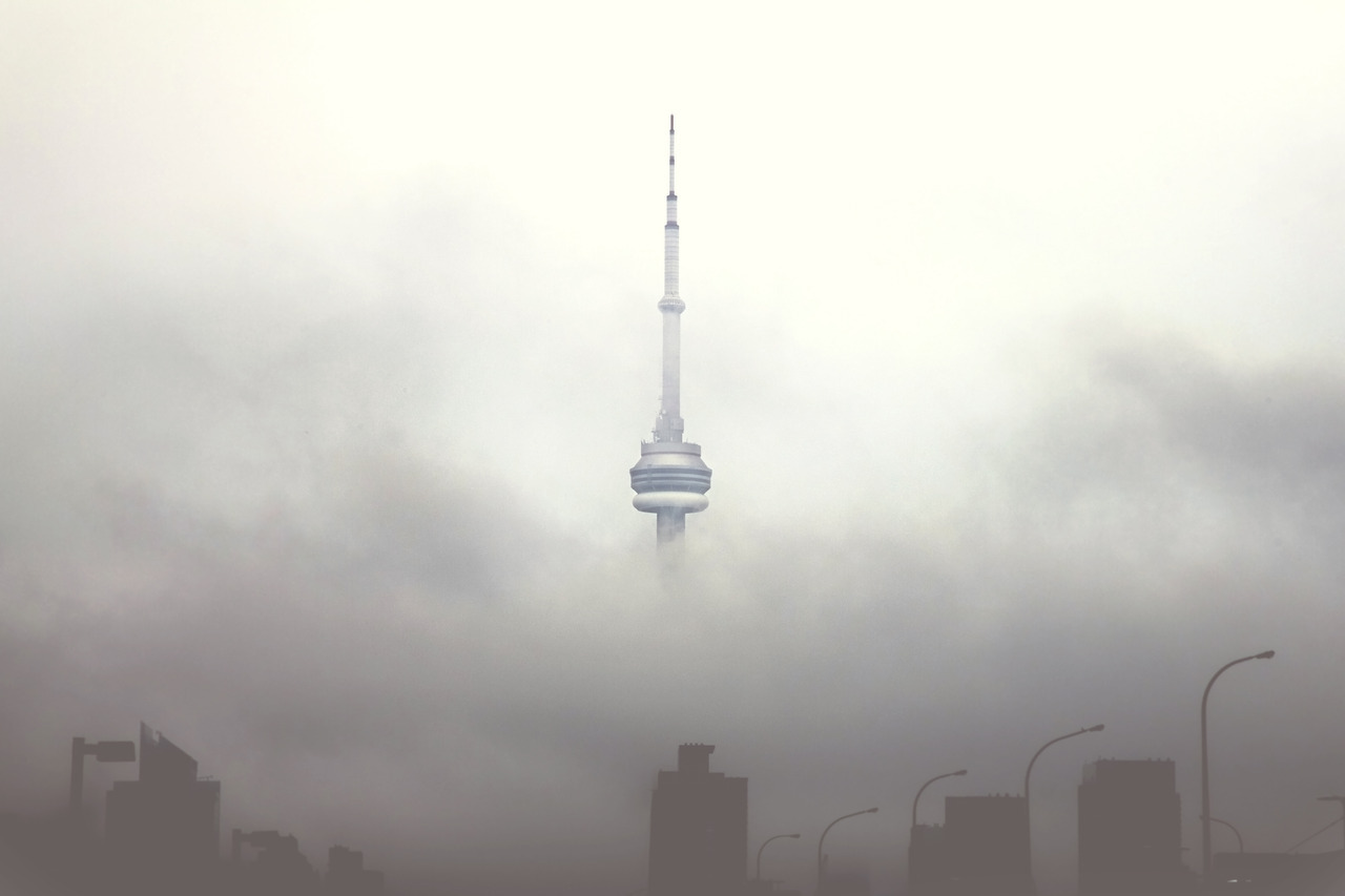 The CN Tower (cloud city) by Eric Kaluzny Toronto, Canada Via erickaluzny