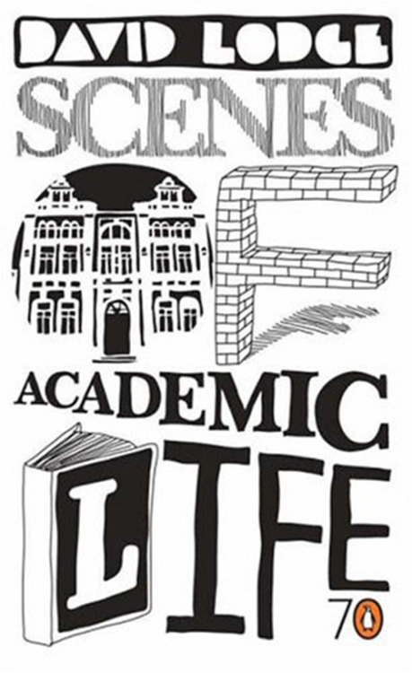 scenes of academic life, david lodge: penguin. [designed by so_me] _unfortunatelly, this tumblr is going on hiatus. started going crazy with my last semester of college, and every second counts now, including those i spend looking for book covers all over the internet. i'll be back in december, graduated this time. (or at least i hope. wish me luck!)