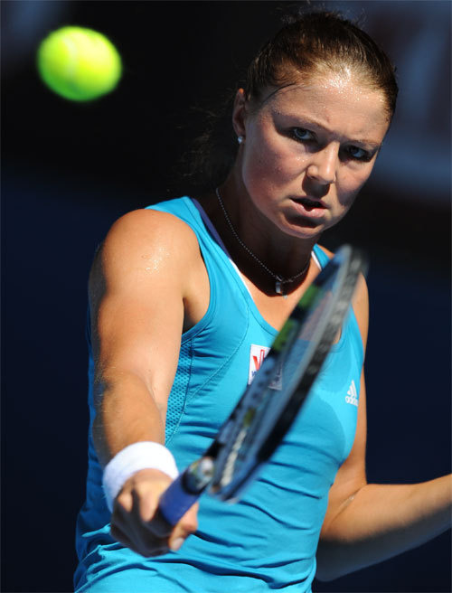 Opponents report that Dinara Safina's backhand scares them more than her garb.