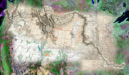 A cartographic masterpiece. Blends multiple layers of map types and styles into one cohesive theme that is part artistic, part science, part history and pure beauty. You have to look closely at the incredible detail to really appreciate how finely crafted this piece is.  Cartographer: David Rumsey