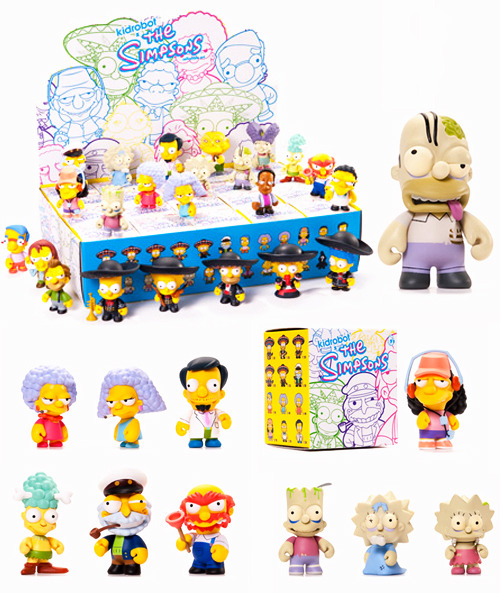 new Simpsons + Kidrobot vinyl toys  Kidrobot releases a 25-character blind assortment of the The Simpsons Mini Series 2.