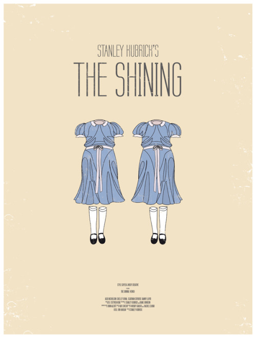 Poster for Kubrick's The Shining from 'Dress the Part', a collection of 10 redesigned movie posters designed by Moxy Creative (via garconniere)