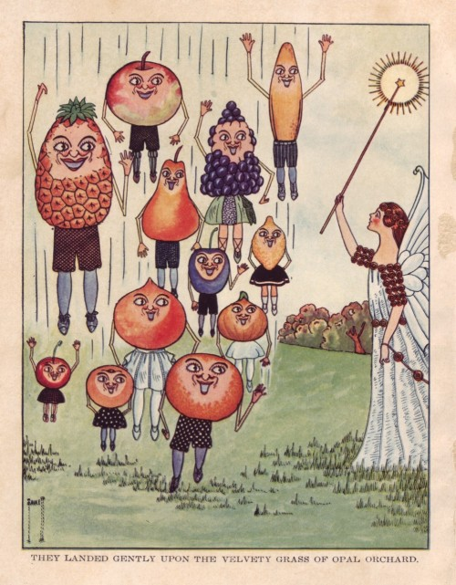 Cider label inspiration T. Benjamin Faucett, Folksy Fruits, 1924 Courtesy of A Journey Around My Skull