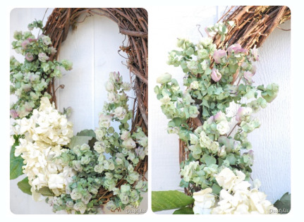 A DIY wreath is a beautiful way to give someone special a super-personal gift without spending lots of money. To make a wreath like the one pictured above, pick up a twig frame from a craft store (Michael's carries them), and then use wire to affix your flowers to the branches (you can either pre-dry them or let them dry out once they're on the wreath). If you end up with some bare patches, just buy a few fake branches and use them as filler. Image via Dusty Lu Interiors. FRIEND GIFT MOM GIFT