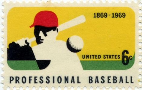 Professional Baseball US postage stamp inothernews:  zachlinder:  True story: I collected stamps when I was a kid. This is a beautiful commemorative. [via flipflopflyball]  Love love love this.