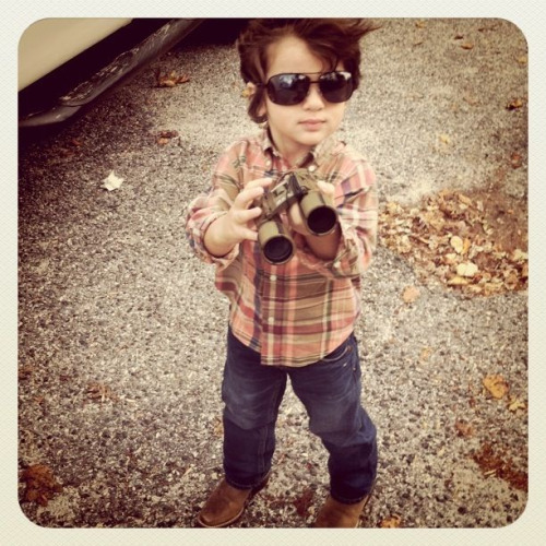 3 going on 30. So smart and stylish. And yes, those are cowboy boots…