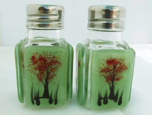Fused Glass Salt and Pepper Shakers