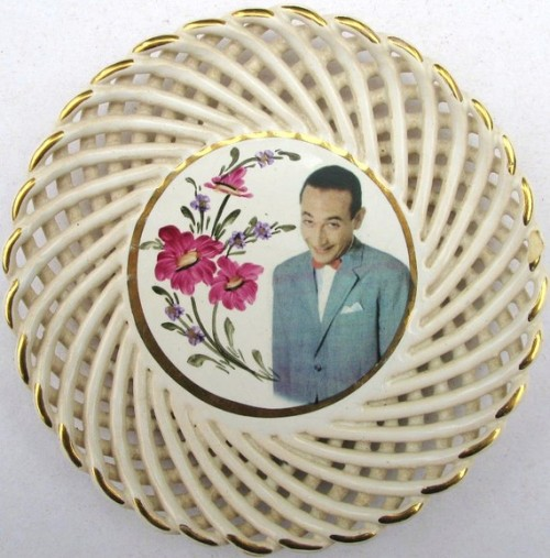 Pee-wee Herman Portrait Plate - Altered Vintage Plate