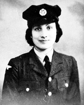 Noor Inayat Khan wears her British Women's Auxiliary Air Force uniform before being sent to Nazi occupied France to fight Hitler. She later was captured and executed at Dachau Concentration Camp.