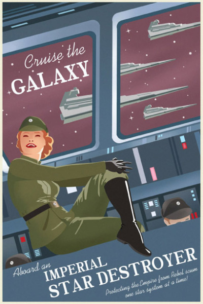 Loving these VIntage Star Wars travel posters from Steve Thomas