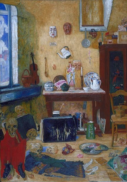James Ensor Skeletons in the Studio 1900
