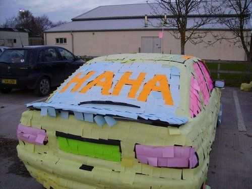 Post it my car ?!