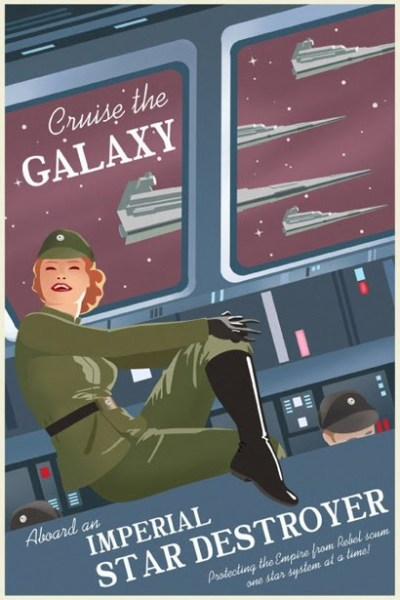 guillee:  Vintage Star Wars travel posters, by Steve Thomas.