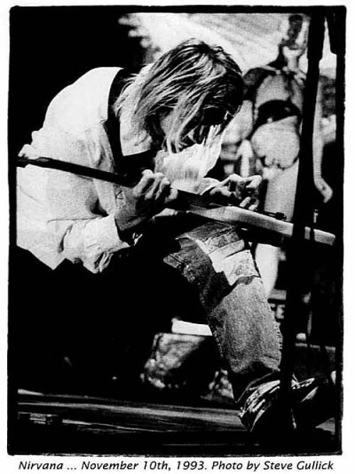 Kurt Cobain photo by Steve Gullick