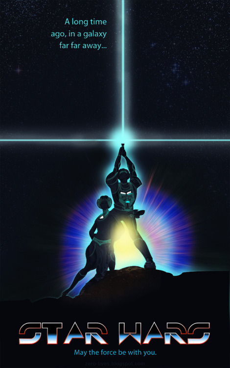 dbsw:  Star Wars (TRON Style) // by Shane Parker / Zero-Lives (via justinrampage)  Perfect time to Tron-ify Star Wars