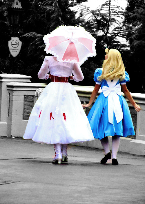 Mary and Alice head off for a smoke break