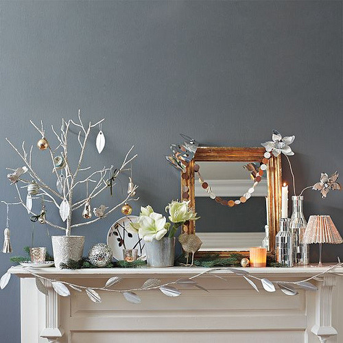 love the garlands in the home, West Elm via decor8