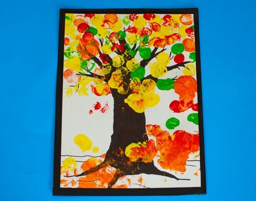 teachpreschool:  Toddler Art — Autumn Tree Painting « Frugal Family Fun Blog