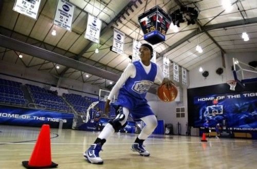 Bilqis Abdul-Qaadir practices for her debut with the University of Memphis after a knee injury last year postponed her freshman season. When she takes the floor this year, she will be the only Muslim woman playing Division 1 basketball, while covering her hair and her limbs.