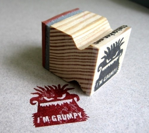I'm Grumpy Monster Rubber Stamp from vozamer at Etsy