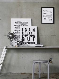 Graphic prints by Swedish Therese Sennerholt. Styling by Lotta Agaton and photo by Henrik Bonnevier.