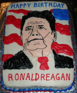 George Bush Snr. decorated this cake. via www.nationalcenter.org