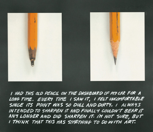 John Baldessari's traveling retrospective, PURE BEAUTY, is up at the Met through January 9. He's been a pioneering force in conceptual art and a tumultuous flame within artistic politics for nearly 60 years. His work is as fun as it is epic. Go check it out if you're in NYC, and see an article about the show in The Economist.