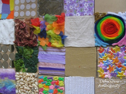 learningwithbella:  Sensory Texture Board from My Delicious Ambiguity