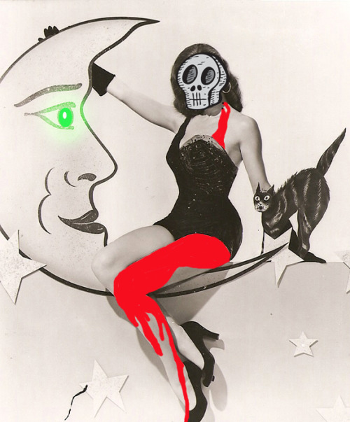 slimmaniac:  Retro Horror A Death By Cartoon Original