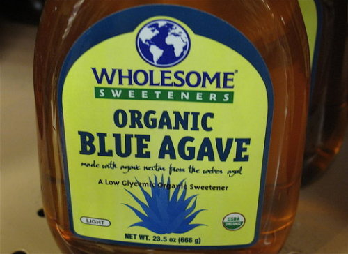 Agave Nectar comes from the center of the Blue Agave plant. A good honey replacement. It's sweeter and has a lower Viscosity than honey. Good in smoothies.