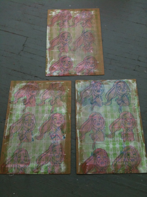 Gagaism. 2010. Screenprint triptych