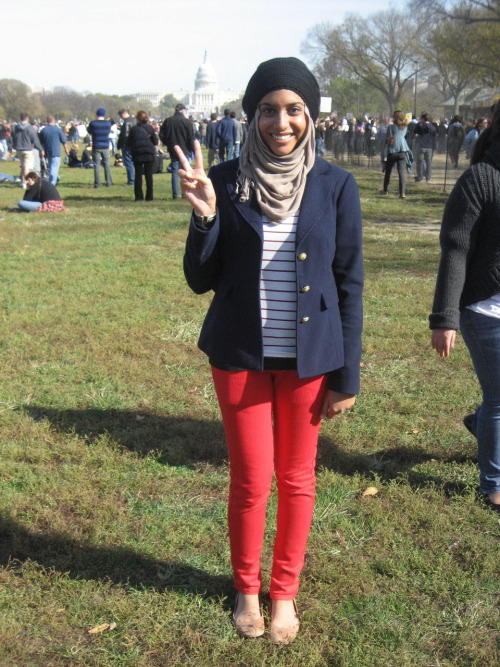 Who says patriotic Muslimwear can't be fashionable? Not Salwa Khan, that's who.