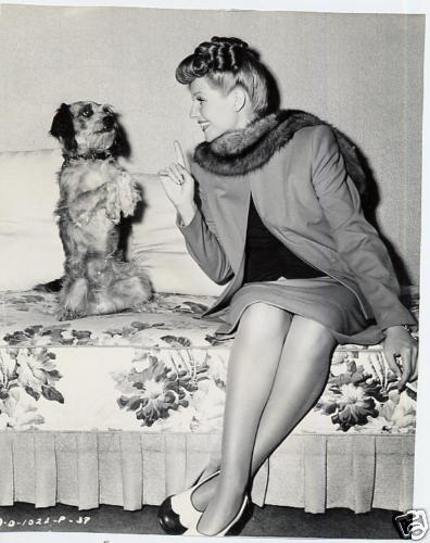 Rita and a dog :). Love her shoes!