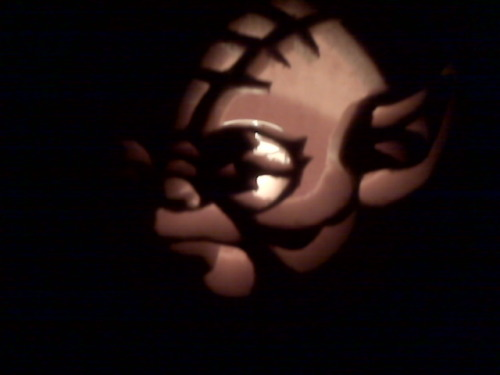 Carved a pumpkin, we did. Happy Halloween people! This is also a preview of the Michelle vlog for tomorrow. :)