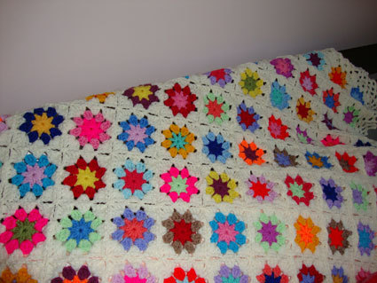 Country flowers blanket