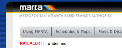 Oh Marta, please have someone QA your site. It's sorta important.