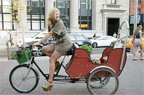 Who says bicycle cant be chic and pretty? Be amazed by this custom built bicycle by Lela Rose! SO AWESOME!  Source Credit: NY Times
