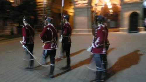 the changing of the guard in Bulgaria.