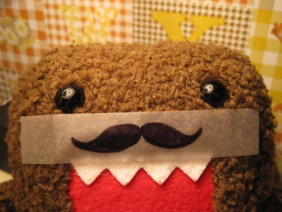 "notebookofhearts:  COOL. DOMO HAS A MUSTACHE ALREADY. :"">"