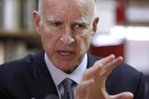 I am Attorney General Jerry Brown  My aura smiles and never frowns  Soon I will be  Governor
