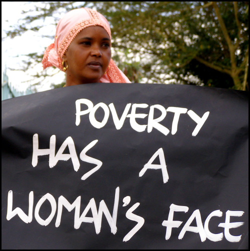 A woman in Nairobi, Kenya using her voice. According to the united nations 70% of the worlds poor are women