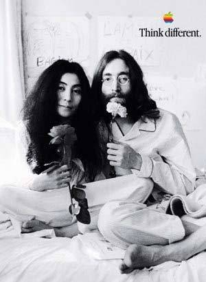 A sample of one of the more popular ads, John Lennon and Yoko Ono. Fact: Steve Jobs is very good friends with Yoko Ono, and at one point they were neighbors. This came in handy when Steve had to deal with usage rights and Yoko happily agreed.
